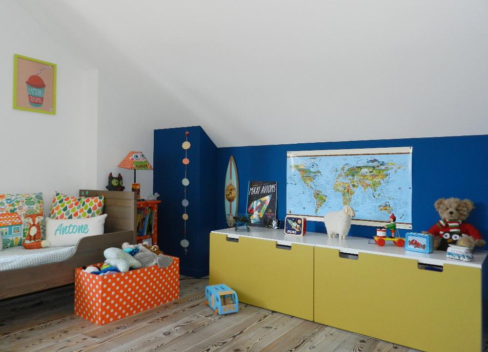 La chambre bleu océan d' Antone