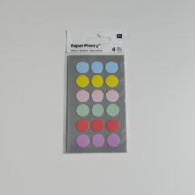 Stickers pois pastel Rico design 15mm