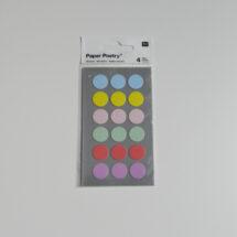 Stickers pois pastel Rico design 15mm