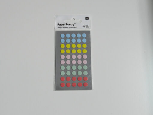 Stickers pois pastel Rico design 8 mm