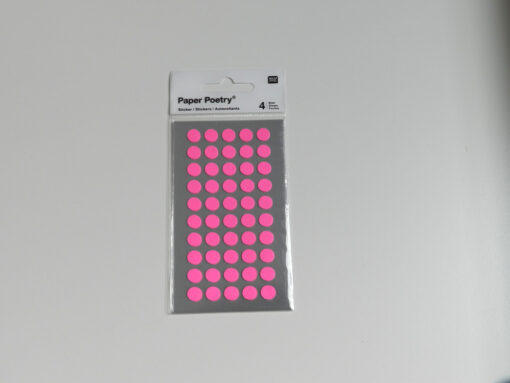 Stickers pois rose fluo Rico design 8 mm