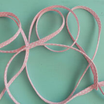 passepoil rose à pois blanc 10 mm
