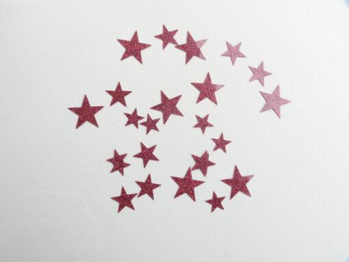 étoiles flex rose pailletté