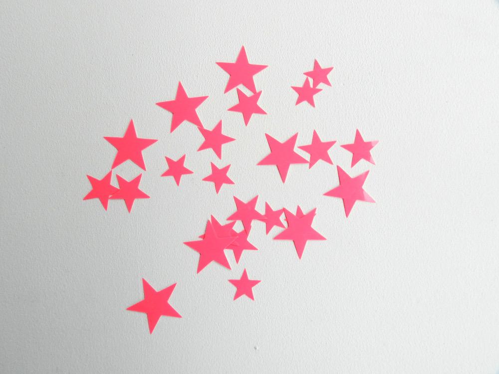 étoiles flex thermocollant rose fluo