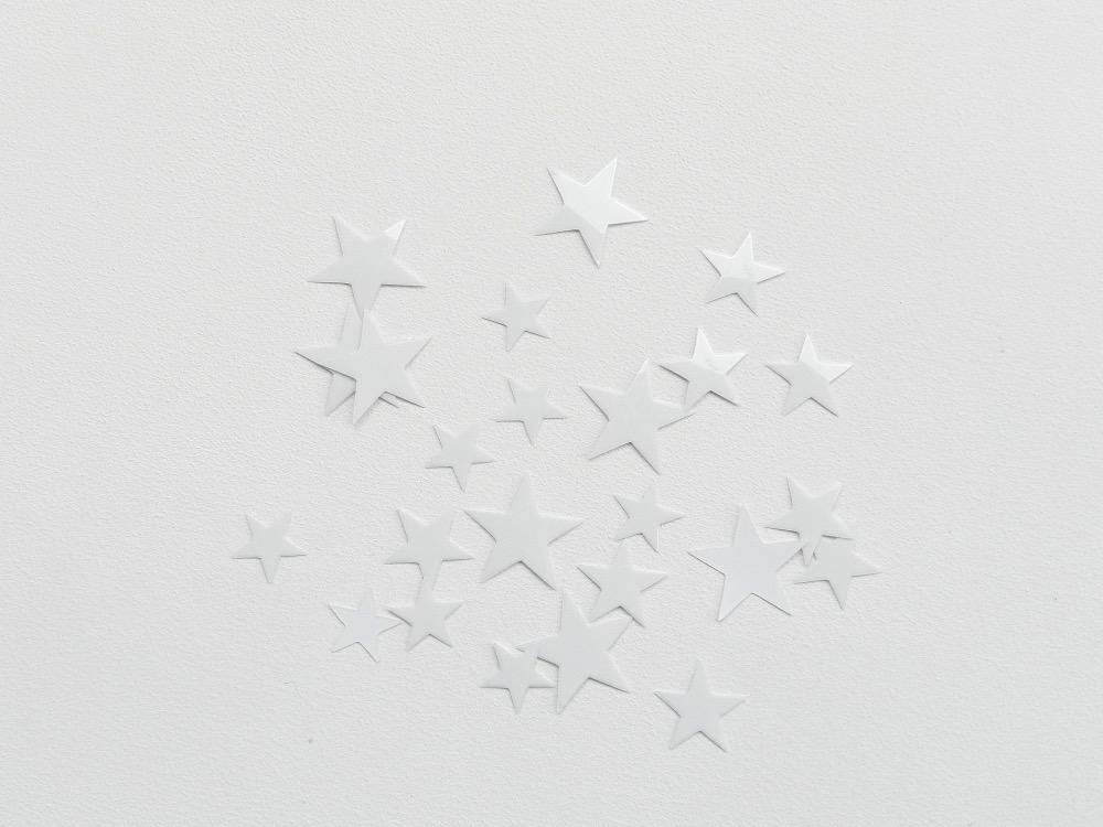 étoiles flex thermocollant blanc