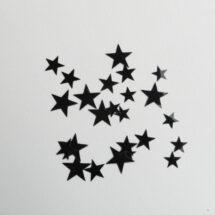étoiles flex thermocollant noir