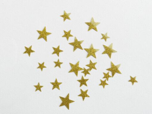 étoiles flex thermocollant or pailletté