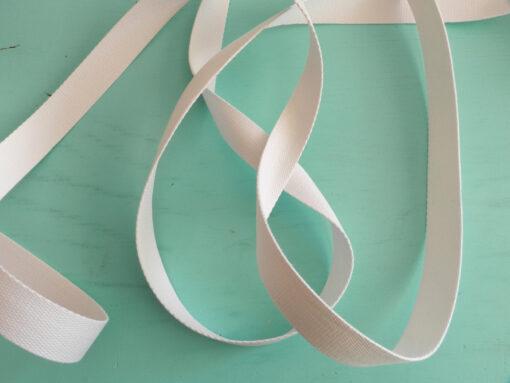 Sangle coton blanche 30 mm