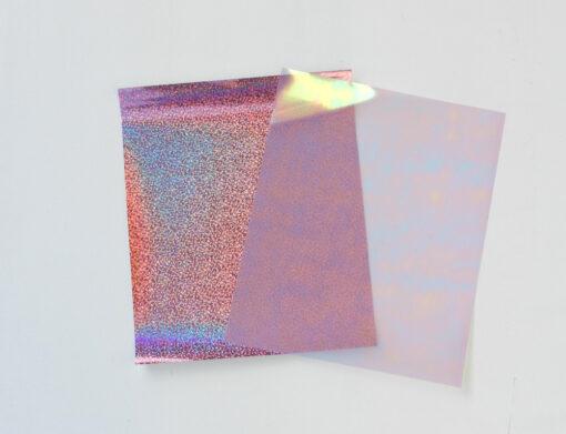 Flex thermocollant effet confetti rose et arc en ciel