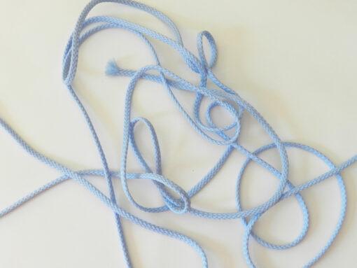 Cordon polyester 5 mm bleu