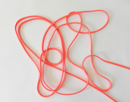 Cordon polyester 5 mm rose fluo