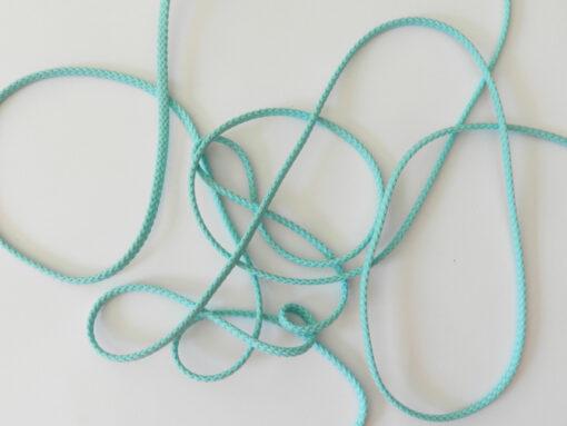 Cordon polyester 5 mm bleu menthe