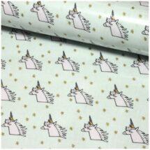 tissu enduit licorne menthe/or rico design
