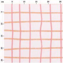 tissu rose à carreaux rico design 100% coton