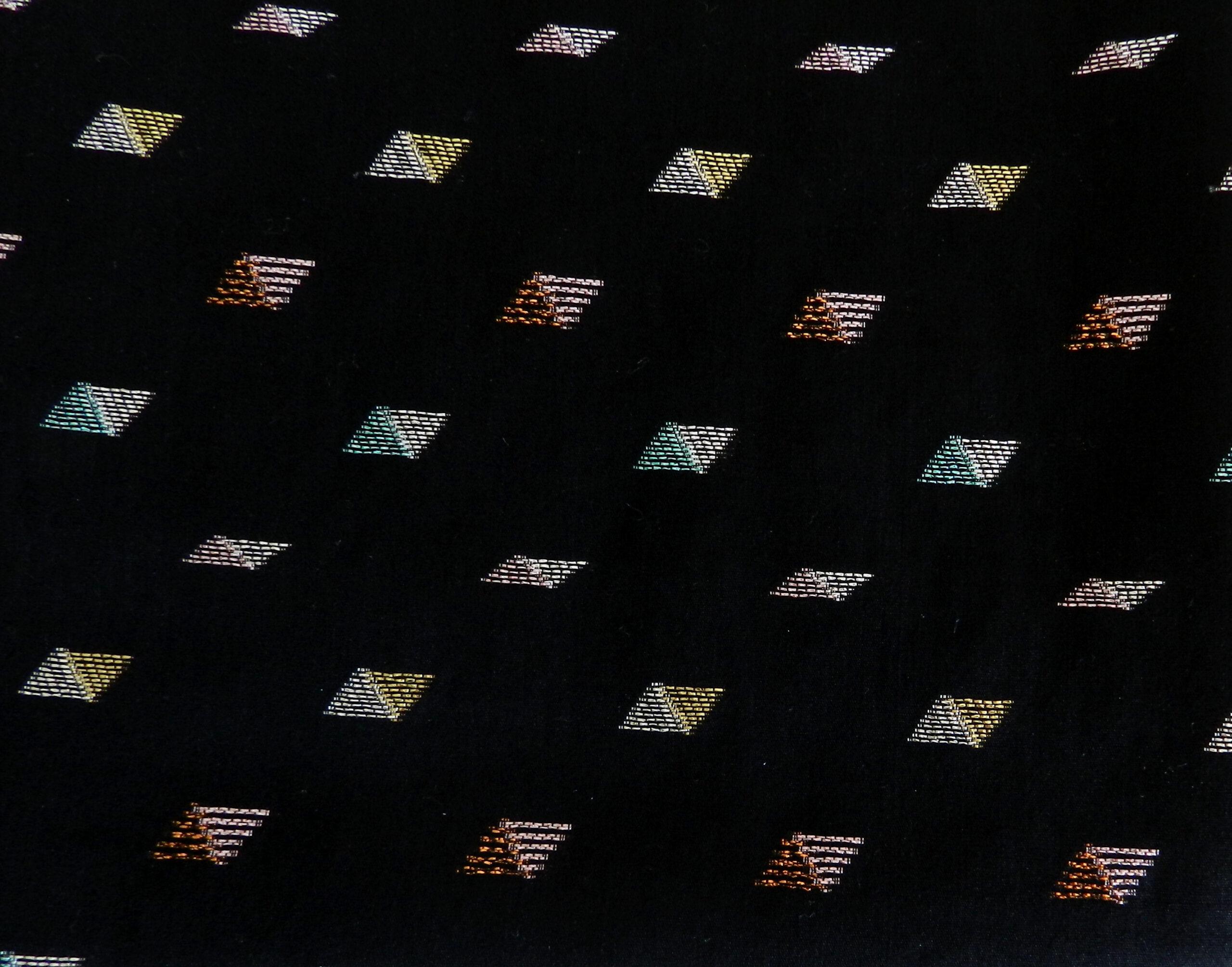 Tissu popeline de coton noir et lurex