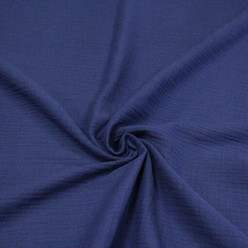 tissu double gaze indigo
