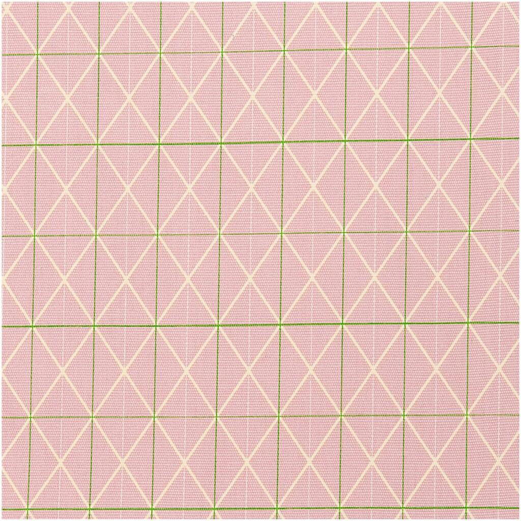 Toile géométrique rose Rico design 100% coton