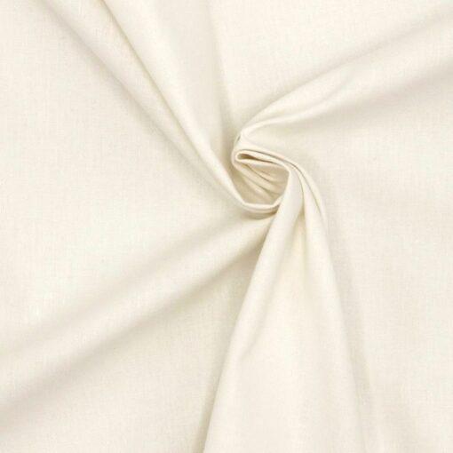 Tissu uni blanc cassé