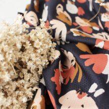 Atelier brunette tissu Posie Blue