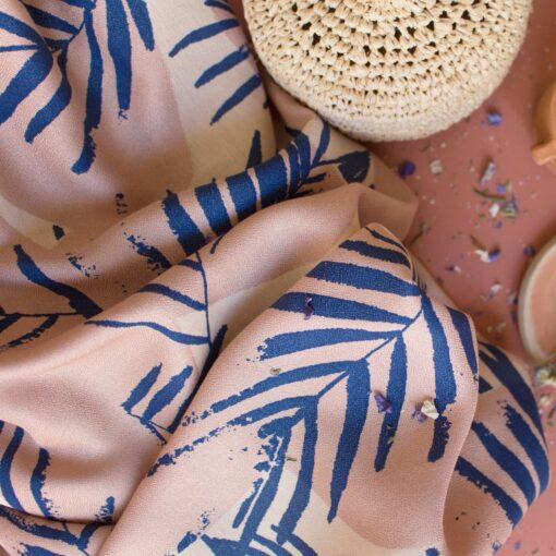 atelier brunette tissu viscose canopy cobalt