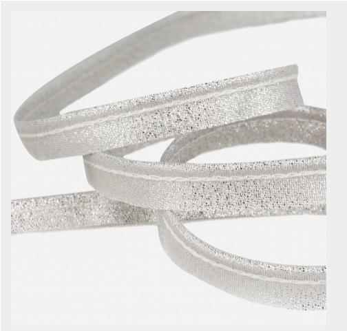 Passepoil lurex argent 10 mm