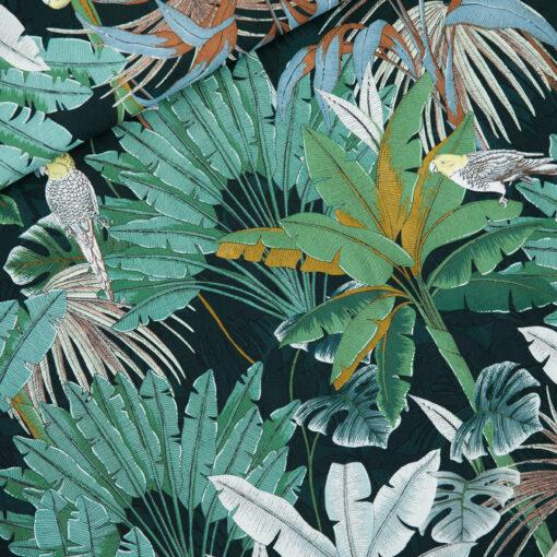 Tissu viscose rayonne jungle See you at six