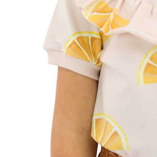 Tissu sweat oranges See you at six