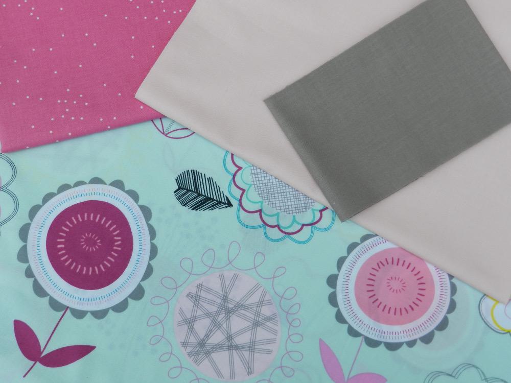 tissu floral dums gums art gallery fabric et unis